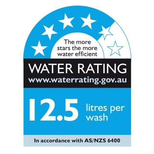 WFE2B19XAUS Whirlpool Dishwasher Water Rating