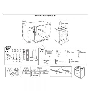 WIE2C19 - Whirlpool Integrated Dishwasher (Installation Guide)